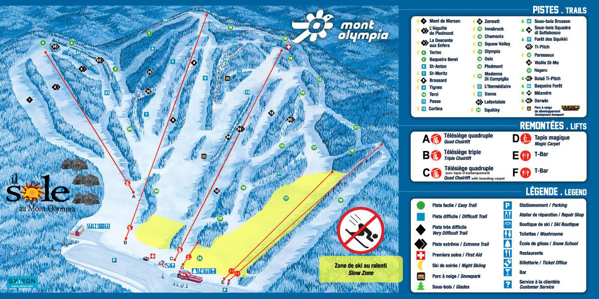 Mont Olympia Trail Map SkiCentralcom