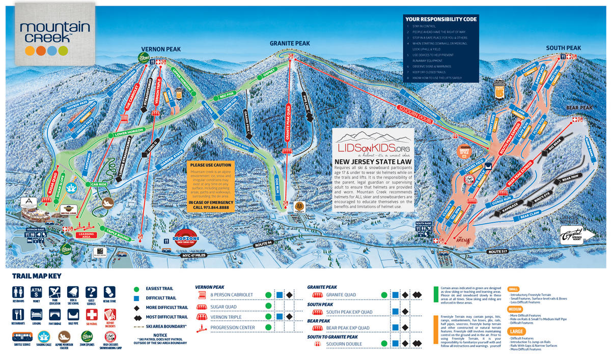 mountain creek trail map | skicentral