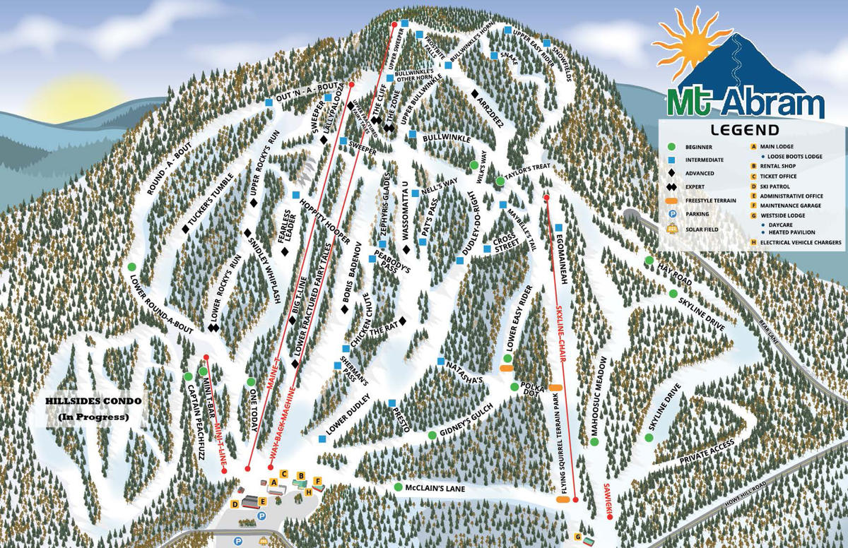 Mt. Am Ski Resort Trail Map | SkiCentral.com Maine Ski Mountains Map on maine united states map, discovery ski resort trail map, maine atv trail map, maine county map with towns,