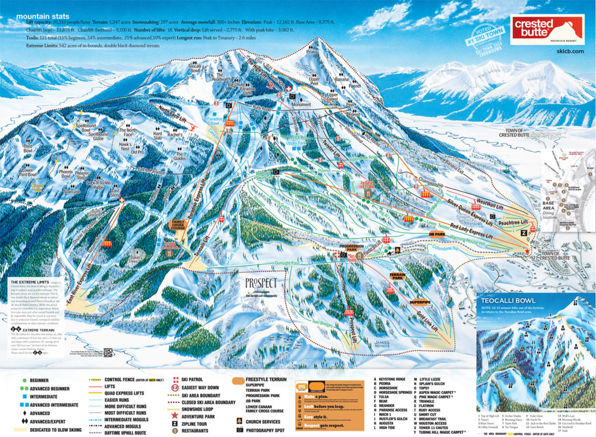 crested butte mountain resort trail map | skicentral