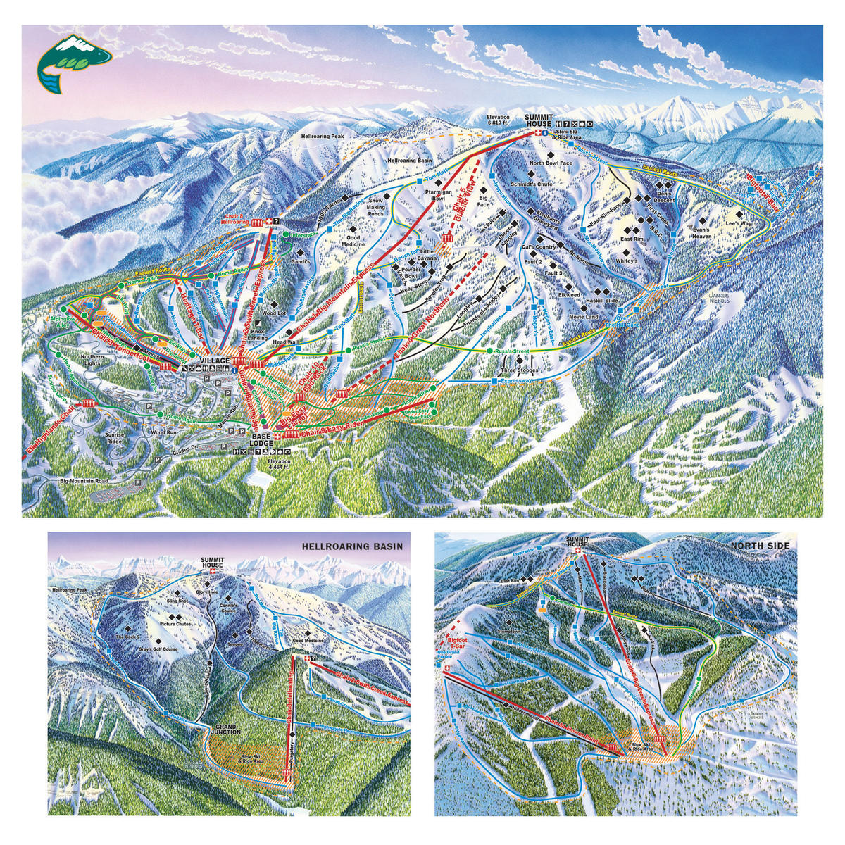 Whitefish Resort At Big Mountain Trail Map Skicentral Com