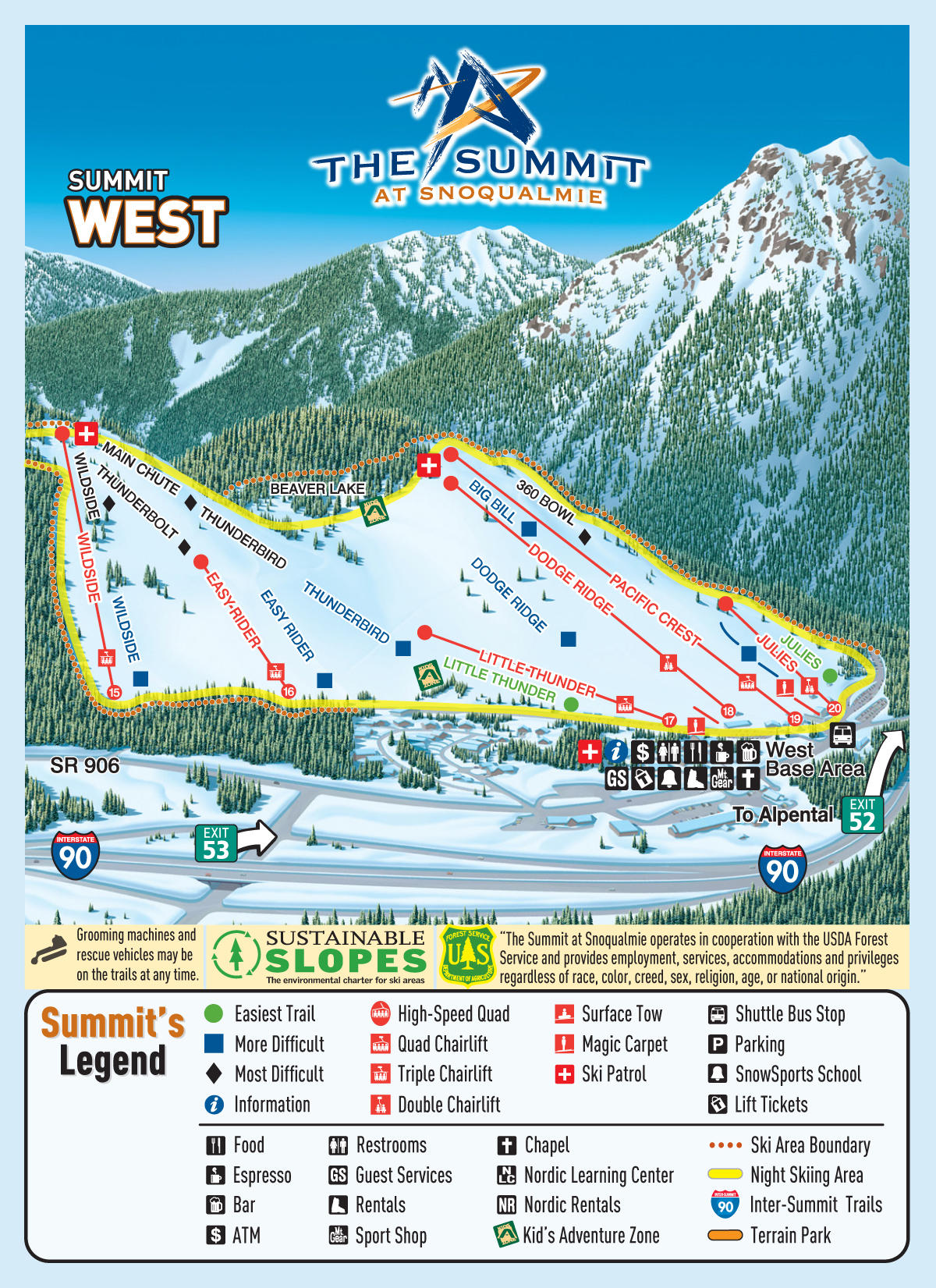 the summit at snoqualmie trail map | skicentral
