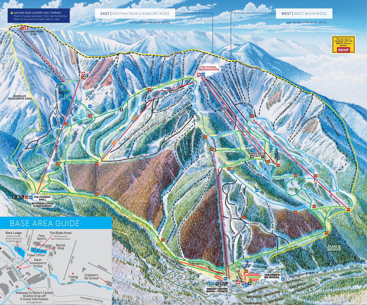 Taos Ski Valley Trail Map SkiCentralcom - New mexico elevation map