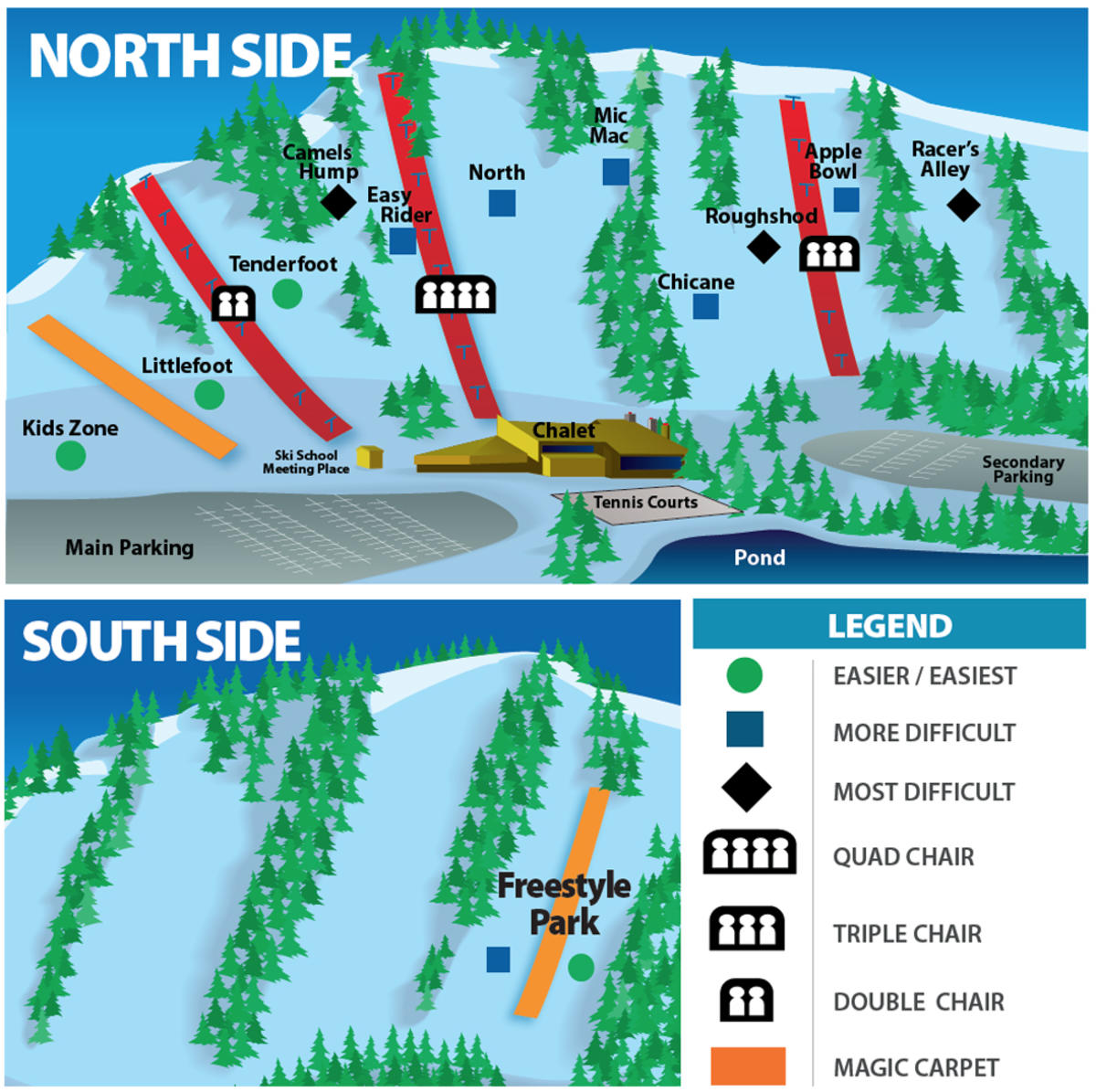 Chicopee Trail Map SkiCentralcom