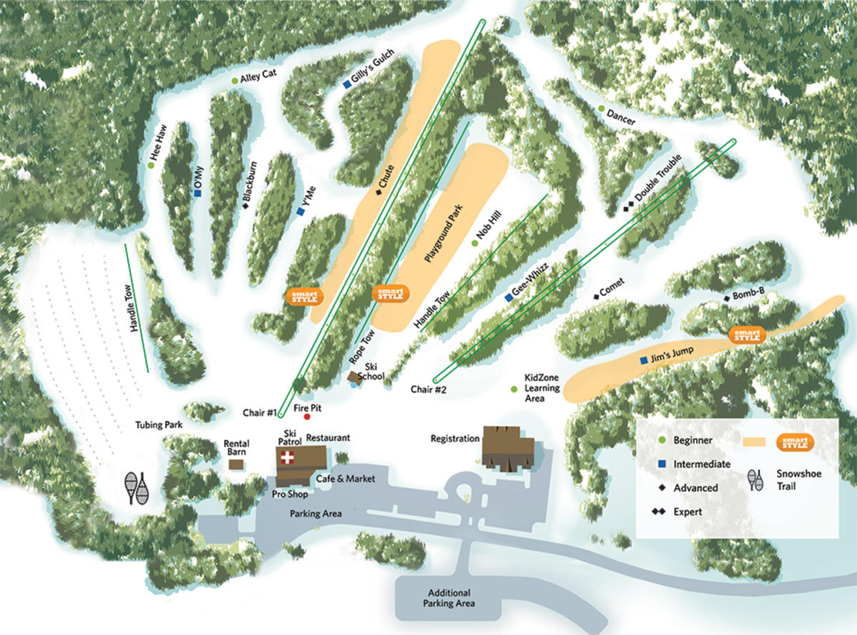 Christmas Mountain Village Trail Map | SkiCentral.com