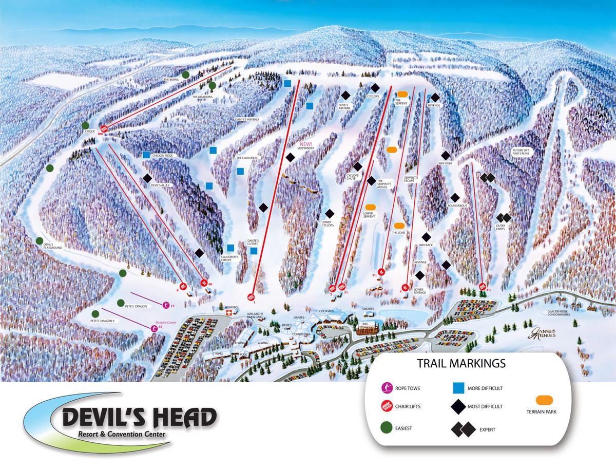 devils head trail map | skicentral