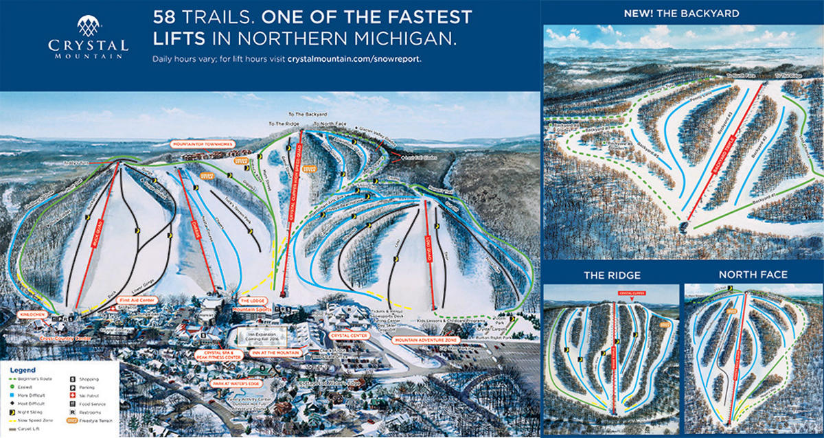 Crystal Mountain Resort Trail Map Skicentral Com