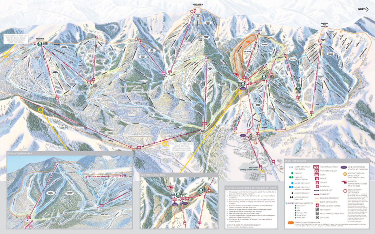 canyons resort trail map | skicentral