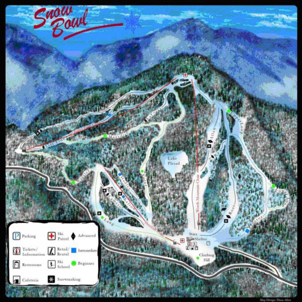 Middlebury College Snow Bowl Trail Map SkiCentralcom - Vermont colleges map