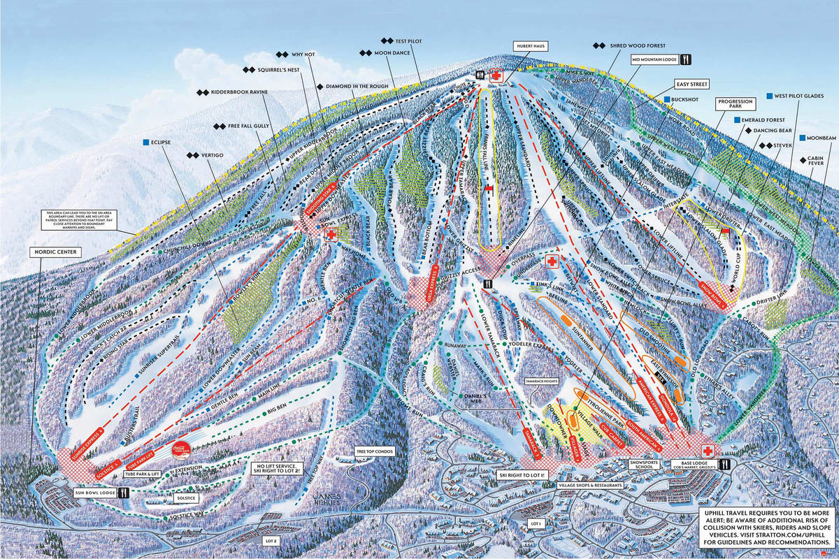 stratton trail map | skicentral