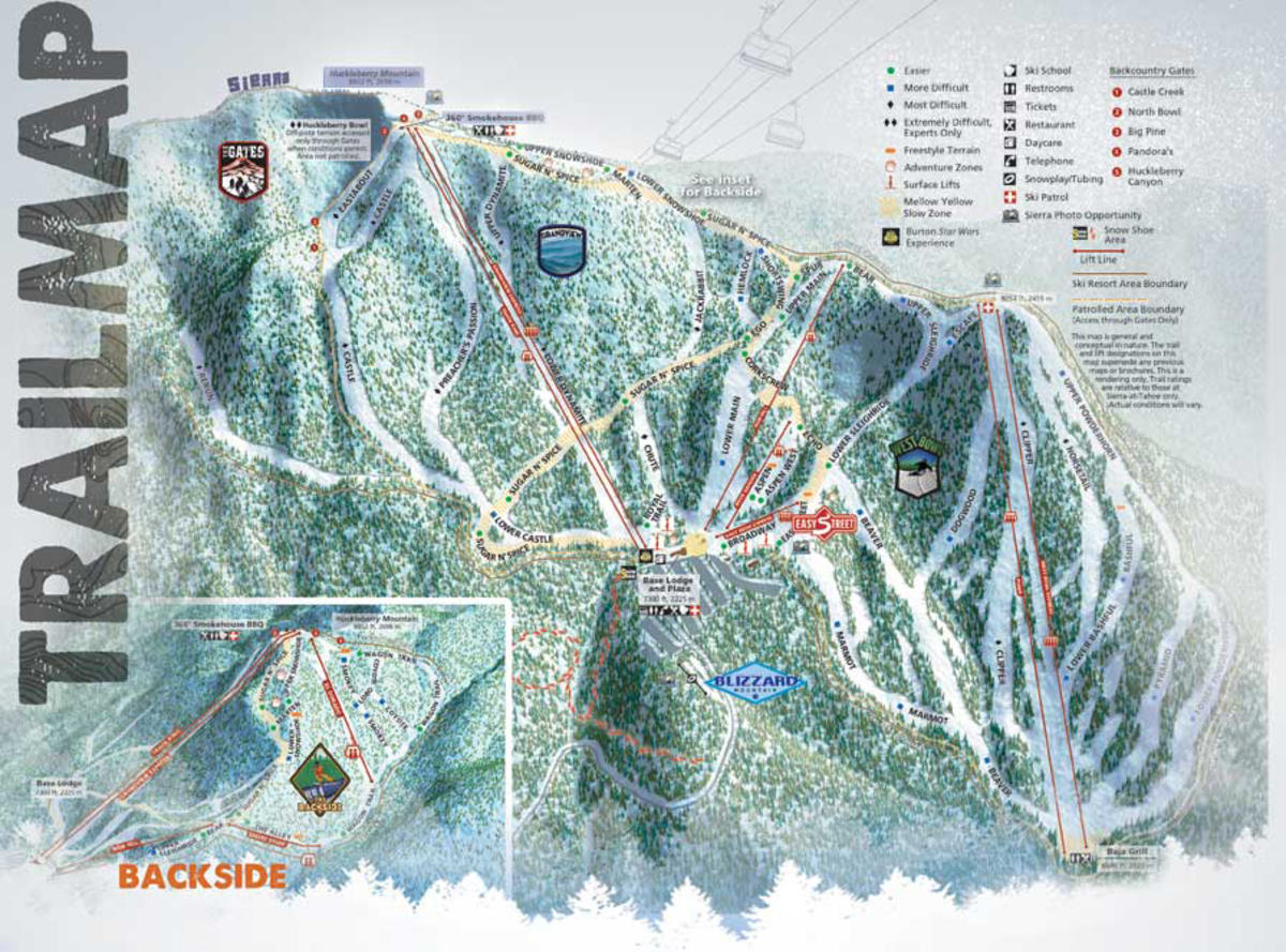 sierra at tahoe trail map | skicentral