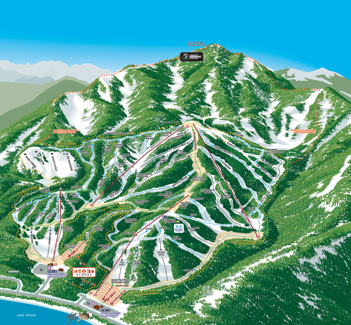 homewood mountain resort trail map | skicentral